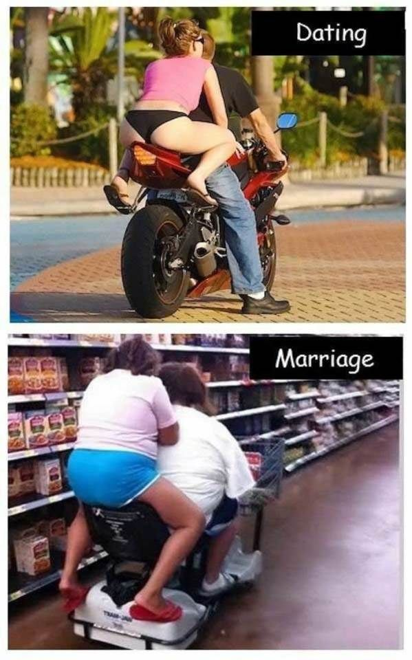 Dating Vs Marriage (photo album) (check out all photos) #dating #marriage #interesting
