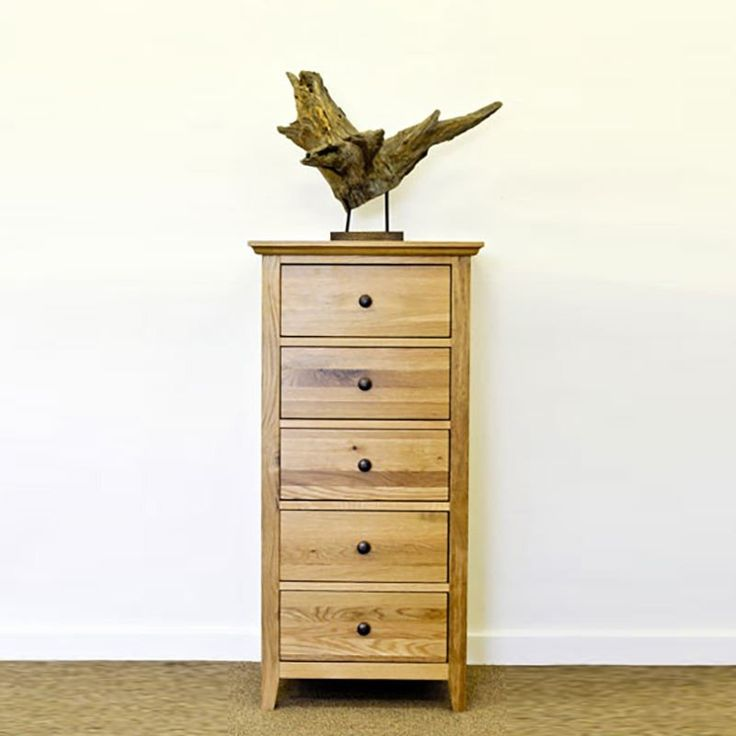 Hereford Rustic Solid Oak Chest Drawer (Size Slim, Medium) -  - Chest Of Drawers - Ametis - Space & Shape - 3