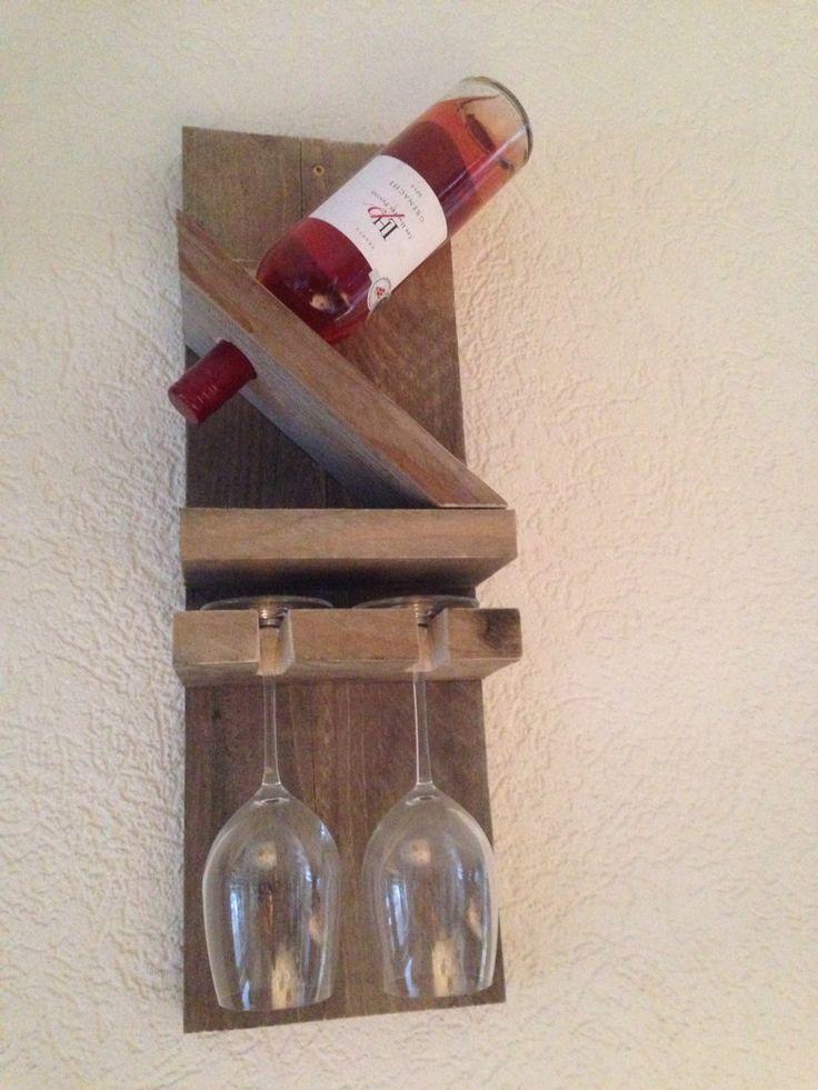 Wijnrek van steigerhout gemaakt bij Atelier van Gogh van Wooncadans