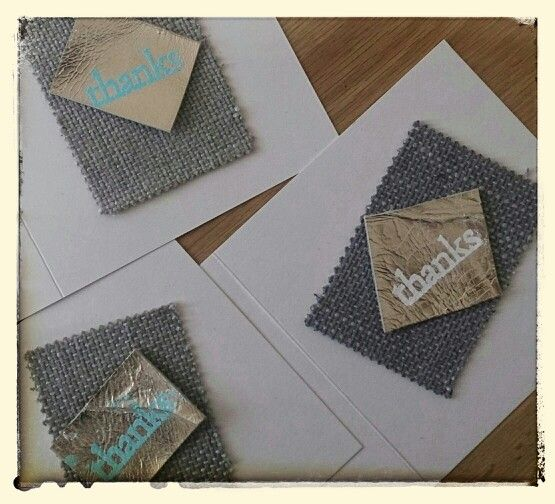 Handmade by Hilly Thankyou cards, Embossed onto recycled gold leather,£3.50 each. handmadebyhilly@gmail.com