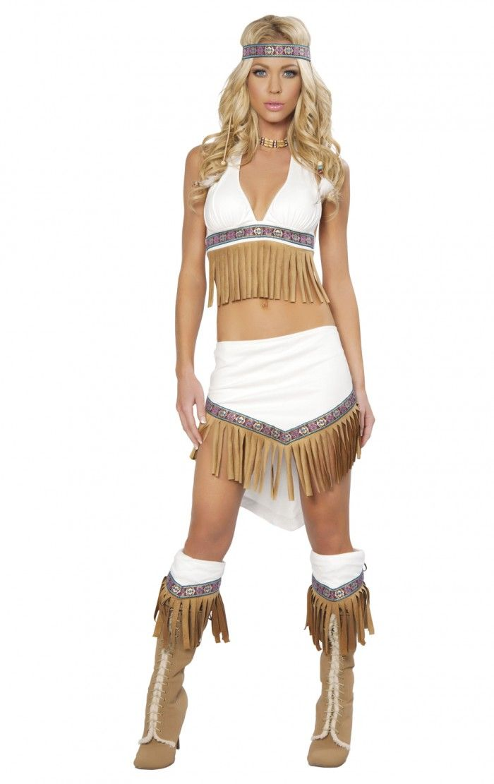adult costumes this womens native american wolf hunter costume includes the boot cuffs halter top with fringe skirt with fringe the necklace - Womens Wolf Halloween Costume