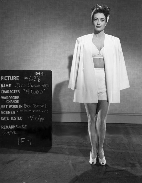 Wardrobe test for 'Mildred Pierce.'