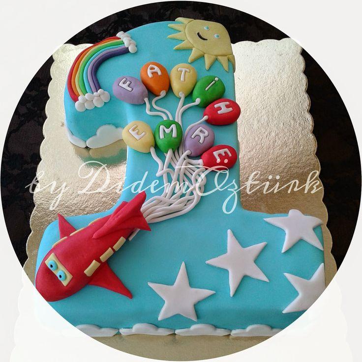 Butik Pasta,Butik Kurabiye,Pasta Tasarım,Doğum günü pastası,Kadıköy butik pasta ,çocuk pastaları: 1 YAŞ PASTASI (Kadıköy Butik Pasta ve Kurabiye)