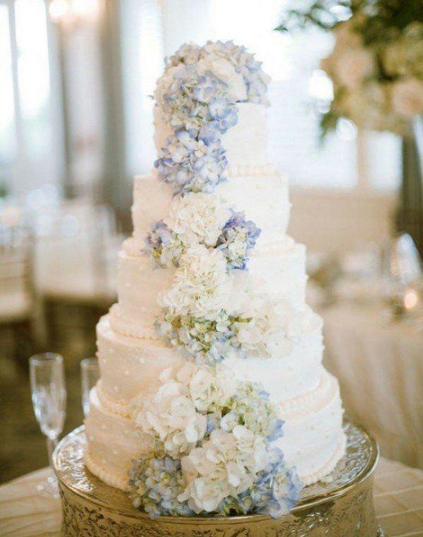 wedding cake, wedding hydrangeas, wedding flowers