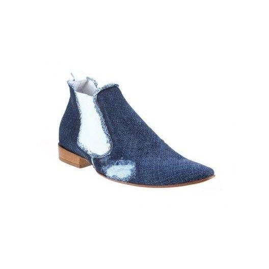 Pánske členkové topánky modré - fashionday.eu