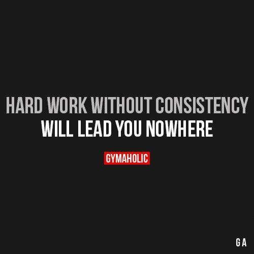 Psst...Consistency is the secret to success, in both working out & nutrition. Discipline!