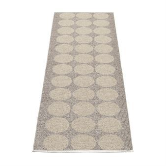 Hugo carpet mud - 70x160 cm - Pappelina