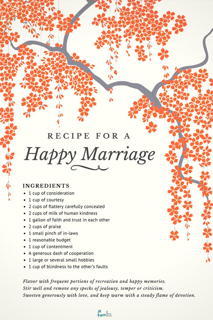 Recipe For A Happy Marriage Poems And Inspiration For -3117