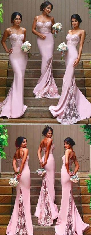 prom dress,bridesmaid dress,Gorgeous Spaghetti Straps bridesmaid dress,Mermaid Backless prom dresses,Long prom Dress,dress for the bridesmaid