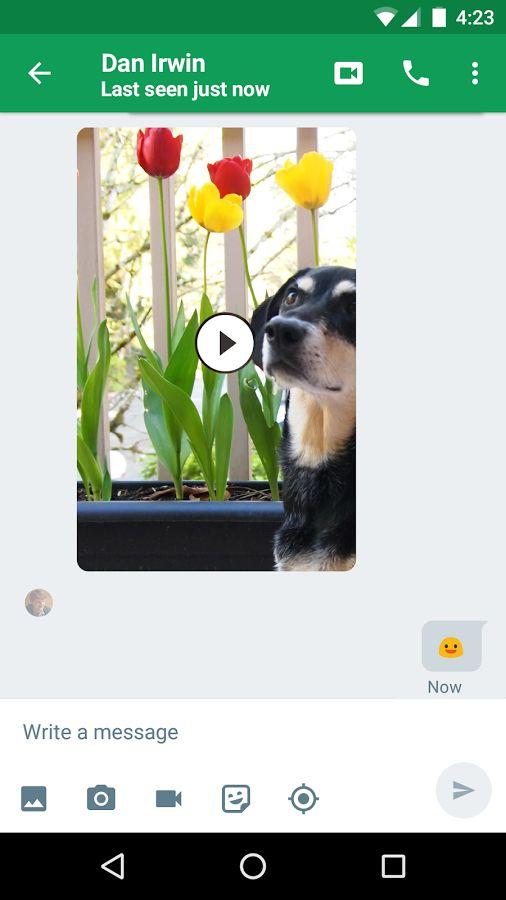 Hangouts- ekran görüntüsü