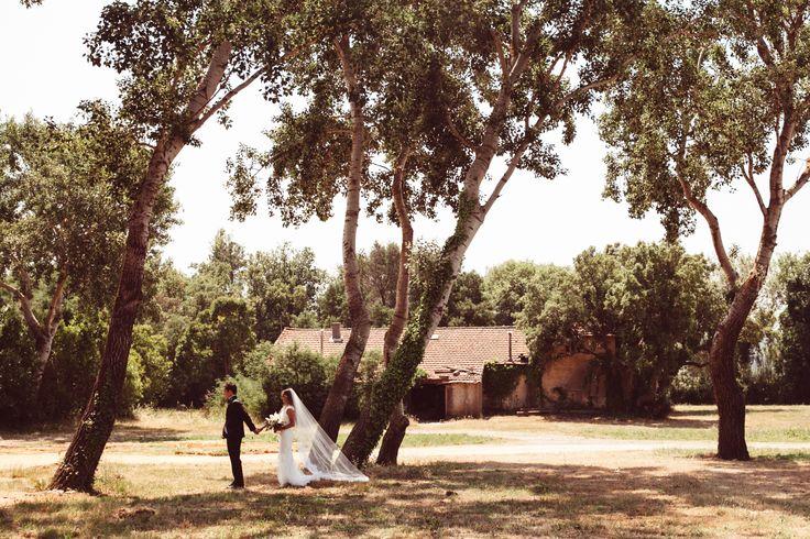 Monique Lhuillier wedding gown; VENUE Hotel Villa Belrose, St. Tropez France, PHOTOGRAPHY Joel + Justyna Bedford, destination wedding photographers; first look in St. Tropez, France