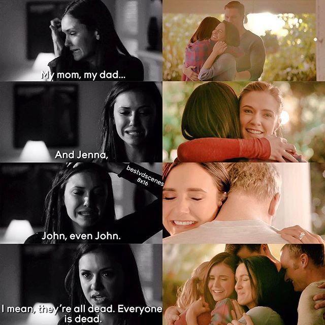 The Vampire Diaries 4x15 & 8x16: Elena, Jenna, John, Miranda, Grayson   #Gilberts