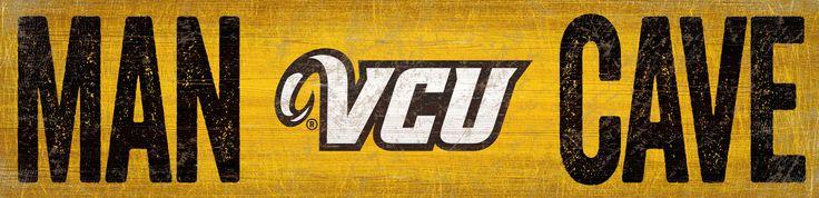"""VCU Man Cave 6""""x24"""" Sign"""