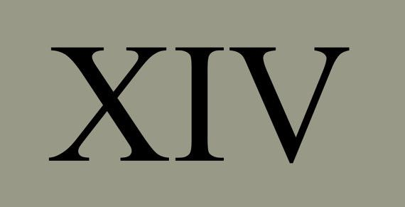 Set of Roman Numerals - Wide Version - Various Sizes