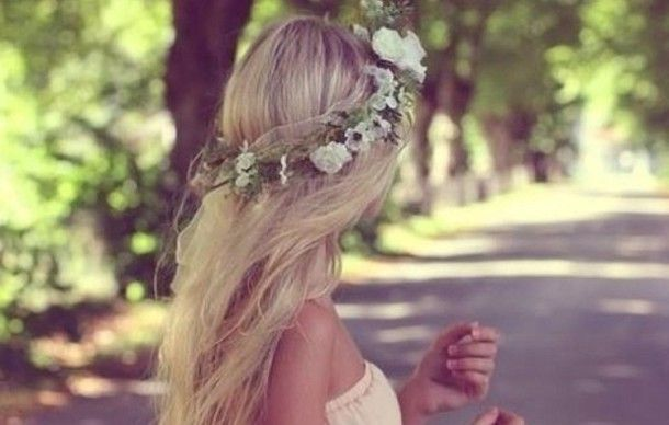 flower headband tumblr girl - photo #24