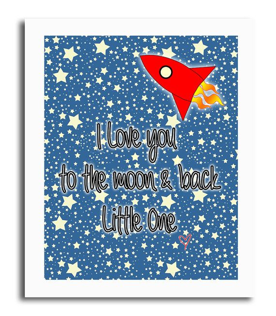 Love You To The Moon & Back by 1492productions on Etsy