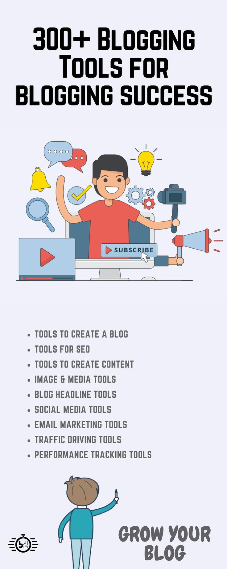 Start a new blog, grow your blog. This article is about over 300 best blogging tools that will help you to create a successful blog and drive a lot of traffic
