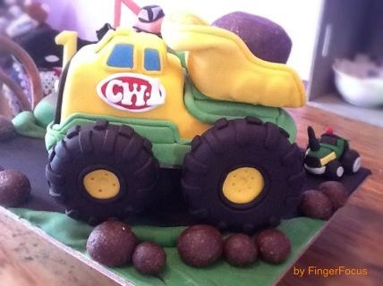Playskool truck cake