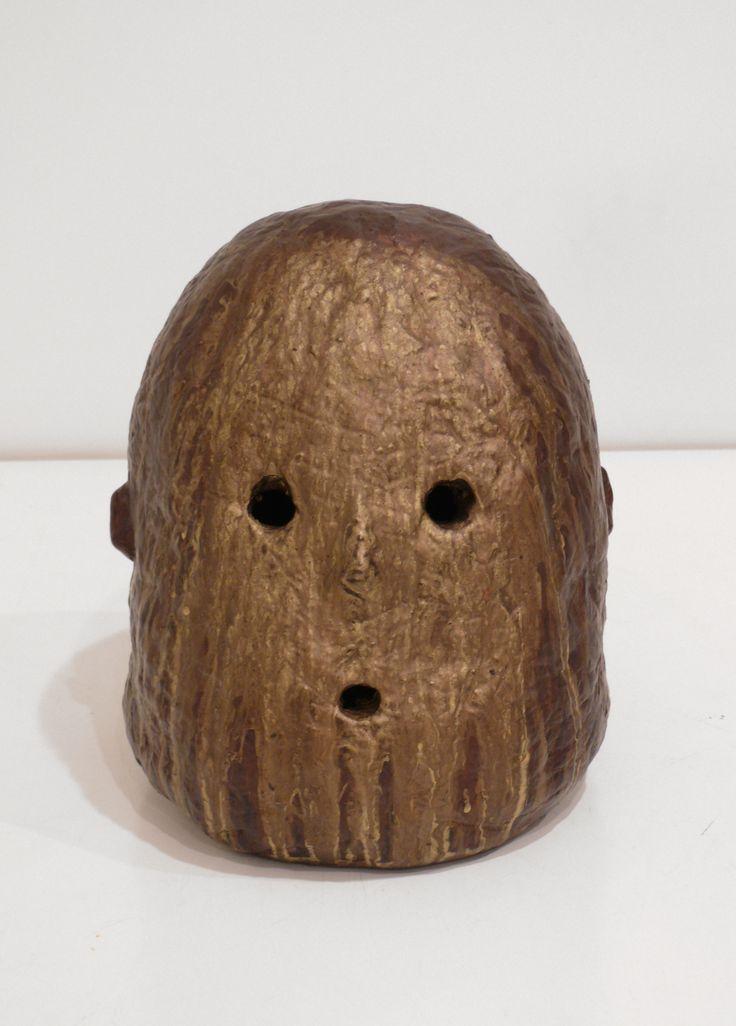 Graham Fletcher, 2014, Untitled (Head 8), ceramic and acrylic, 250 x 220 x 250mm