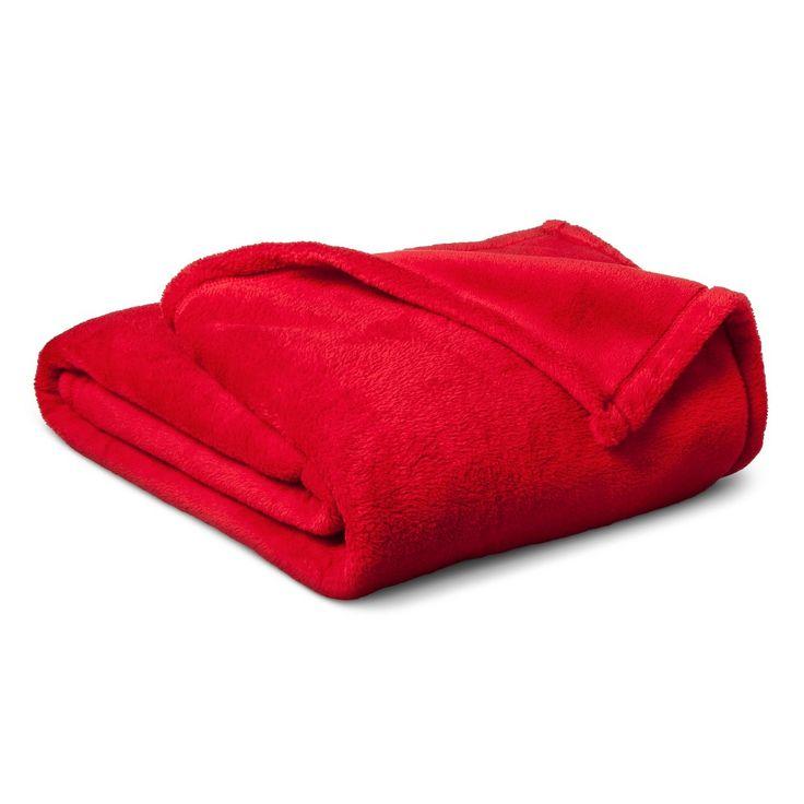 Plush Blanket - Pillowfort, Red Pop