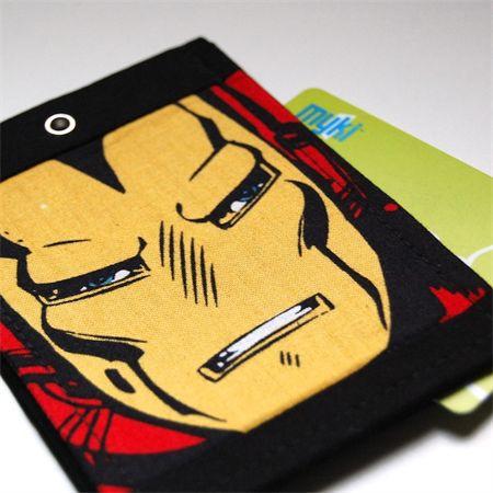 Kids Myki / travel pass / ID Holder - Iron Man | Ditto Crafts | madeit.com.au