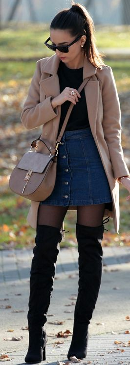 Camel Coat Fall Street Style Inspo by Style and Blog