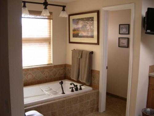 Digital Art Gallery Papyrus Home Design Bathroom with gray paint color crackled subway tiles backsplash rectangular Traditional