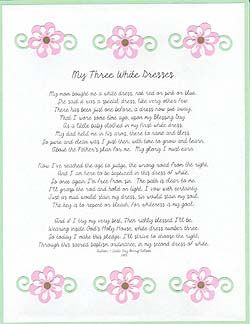 The white dress poem essay