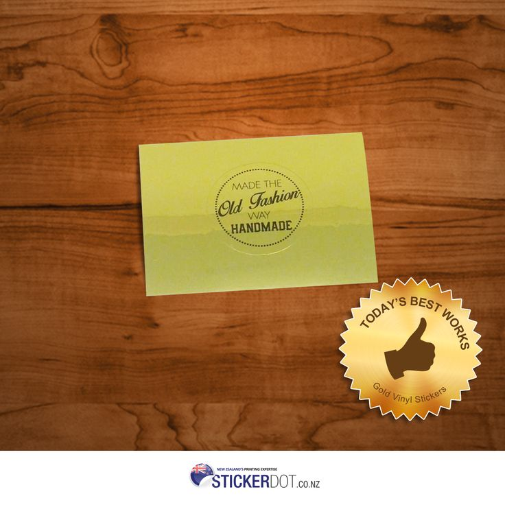 #Gold #VinylStickers - made of a Polyester material with excellent water and heat-resistant properties. Place your order now with the lowest price offer for $162 only! #vinyl #stickers #printing #labels #goldvinyl #customstickers #stickerprinting #NZ