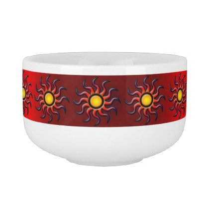 HOT SOUTHWESTERN SUN SOUP MUG - western style diy unique customize stylish