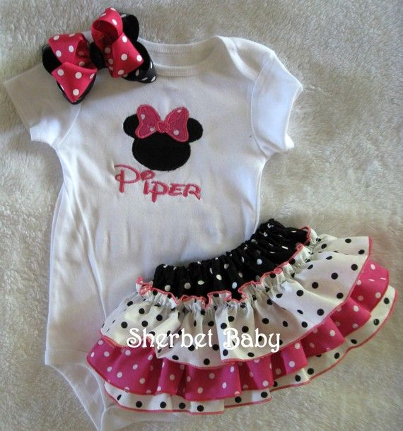 Sassy Pants Ruffle Diaper Cover  Bodysuit & Hairbow by SherbetBaby, $60.00