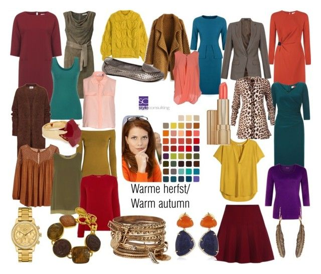 """Warme herfst/ warm autumn color type."" by roorda on Polyvore featuring mode, Maison Margiela, H&M, Dash, maurices, Acne Studios, Chicwish, Dorothy Perkins, MaxMara en Estée Lauder"