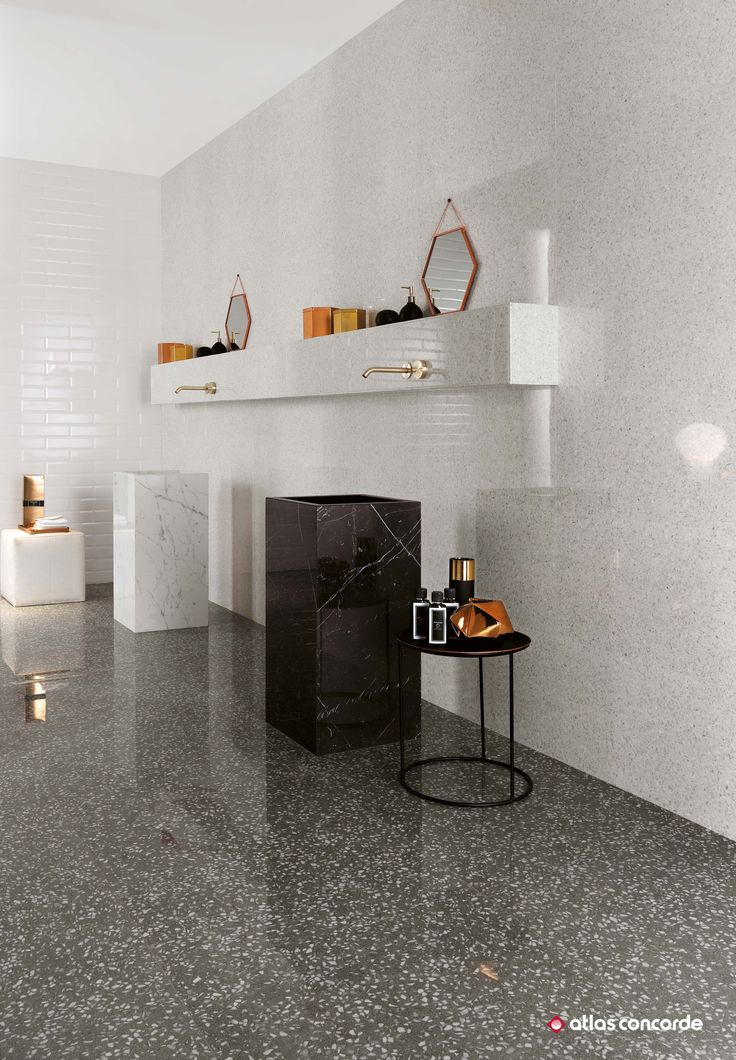 Elegant wall tiles inspired by venetian terrazzo for tasteful designer bathrooms