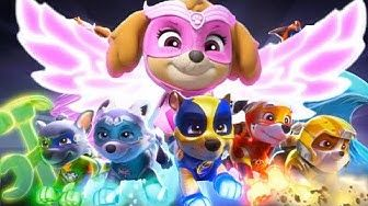 Paw Patrol Mighty Pups Mighty Pups Rescue Team Chase Rubble Skye