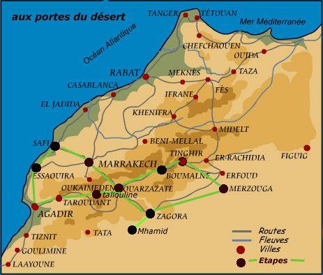carnets de voyage - maroc - portes du désert