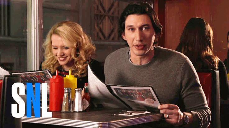 SNL Host Adam Driver & Kate McKinnon Grab a Bite at The Diner https://www.youtube.com/watch?v=6tKZlCi-WnQ