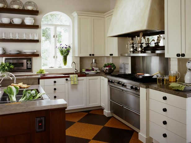 Love this kitchen! Cozy Cottage Style - 40 White Kitchens That Are Anything But Vanilla on HGTV