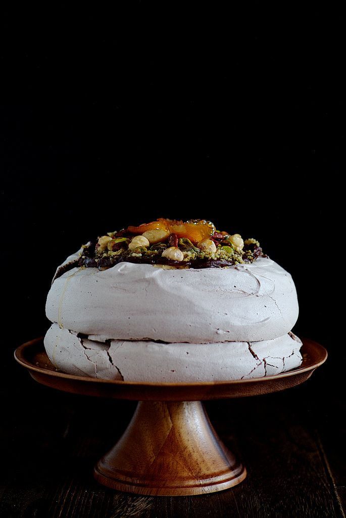 Nutty chocolate pavlova. pavlova  http://www.annabelchaffer.com/categories/Dining-Accessories/
