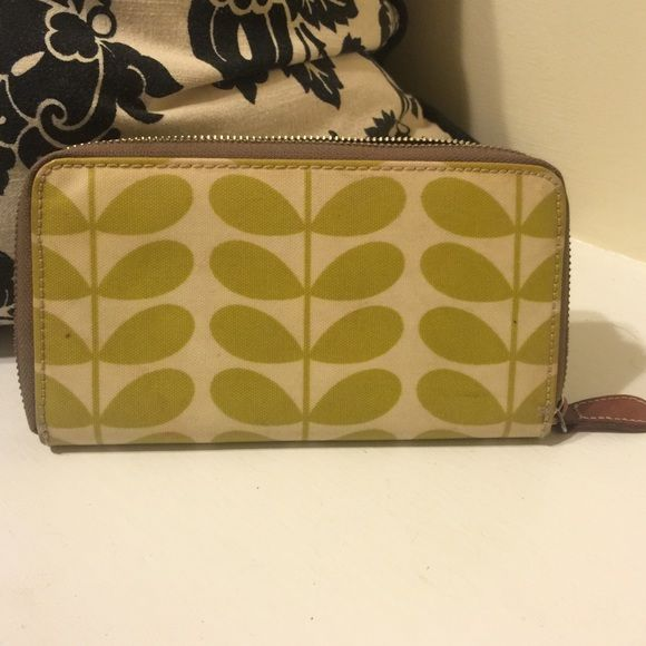 Orla Kiely wallet Orla Kiely big zip green stem wallet. Great condition!! Orla Keily Bags Wallets