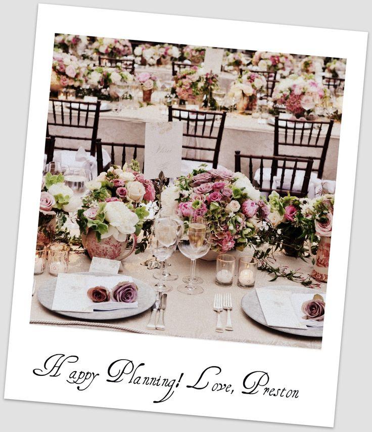 Gorgeous centerpieces and tablescapes via Preston Bailey