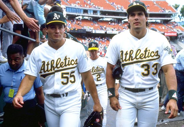 Jose Canseco and his brother Ozzie.