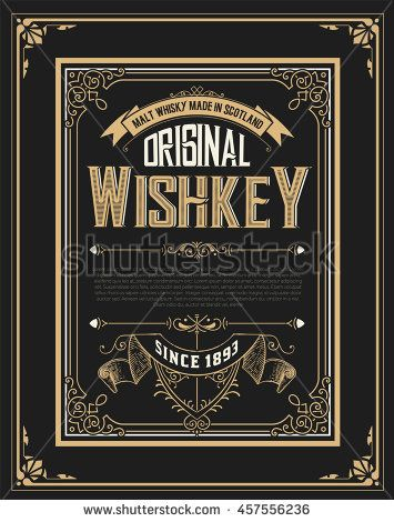 stock-vector-whiskey-label-with-old-frames-457556236.jpg (355×470)