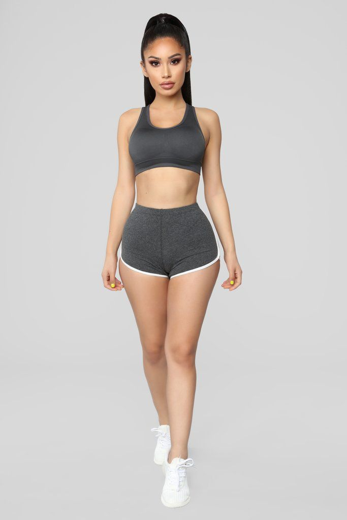 33e457a4a6de5 Everyday Basic Shorts - Charcoal in 2019 | Fashion Nova | Activewear |  Basic shorts, Short women fashion, Gym shorts womens
