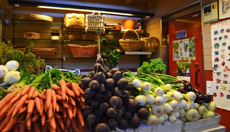 Fresh, local vegetables in the Old Market hall of Helsinki. Visited by Fork in Hand culinary walk.