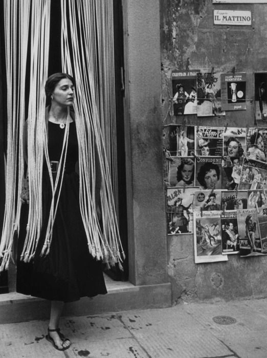 Ruth Orkin:  Jinx in Beads  .  Florence, Italy 1950's Jinx Allen (now known as Ninalee Craig),