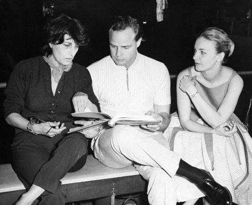 Anna Magnani, Marlon Brando and Joanne Woodward