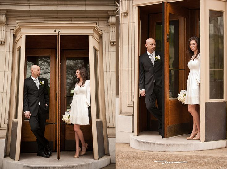 New Portraits after their courthouse wedding in downtown Chattanooga Photos by Dotson Studios dotson studios Our Weddings Couples Pinterest