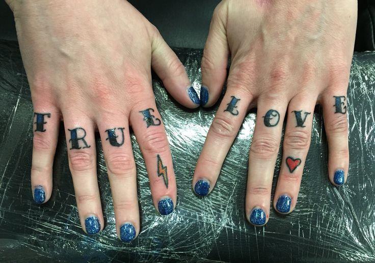 True Love - Spokane - knuckle tattoo