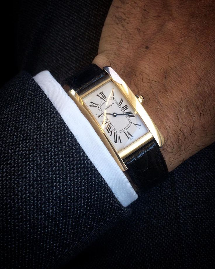 Still stuck on the wrist. #menswear #watches #style #cartier #tank #americaine #elegance #wiwt #ootd #inspiration