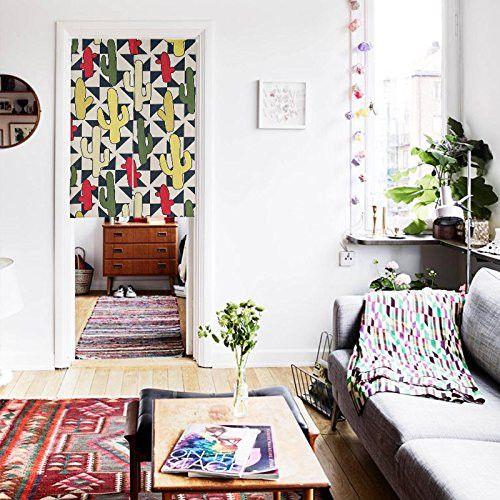 """Japanese Noren Doorway Curtain Tapestry 33.5"""" Width x 47.2"""" Long , Valley in Peru"""